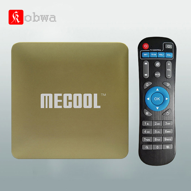 MECOOL HM8 Akıllı Mini TV Kutusu Amlogic S905X Quad Core Set top Box Android 6.0 TV Kutusu 4 K 1 GB + 8 GB 2.4G WiFi Media Player