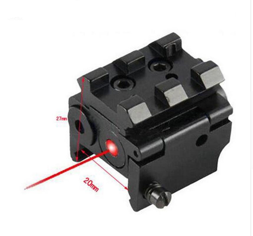 Mikro Mini Tabanca Red Dot Lazer Sight Kapsam Glock 17 için Uzatın ile Top Ray Fit 19