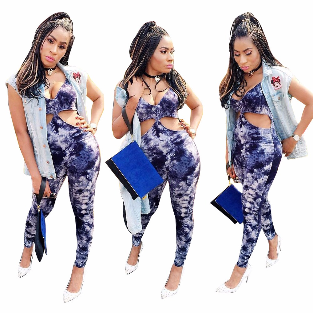 8120 2017 High quality slim temperate fashion bodycon jumpsuit sexy strapless print jumpsuit novelty full length jumpsuit