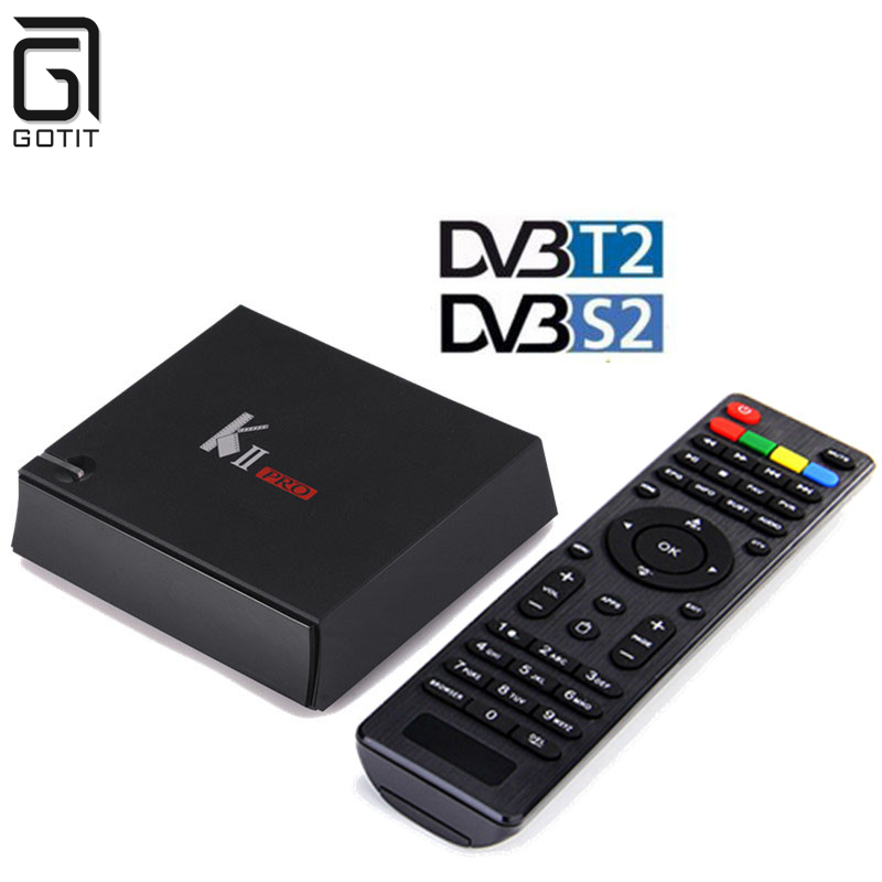 K2 Pro Akıllı Android 5.1 TV Kutusu Amlogic S905 Bluetooth 4.0 Media oyuncu 2G + 16G Çift WIFI IPTV DVB-S2 DVB-T2 K2 PRO Set Top Box