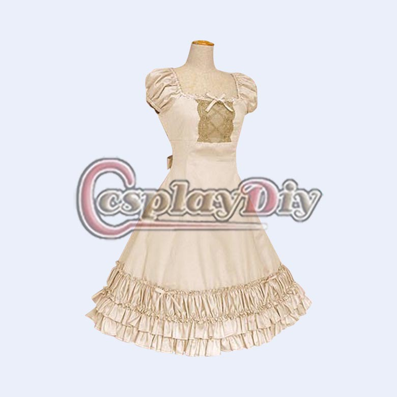 Dantel ruffles ile custom made lolita dress tatlı lolita dress iki renk d1206