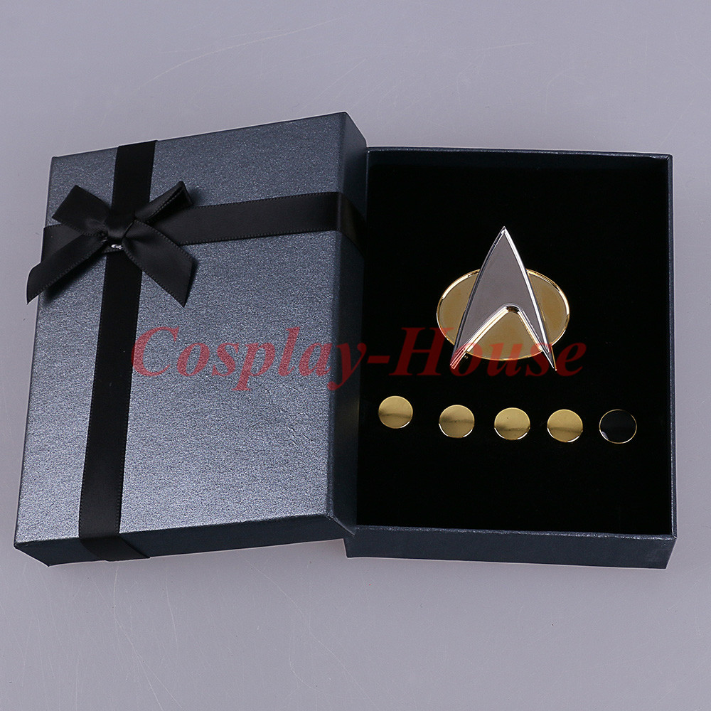Cos Star Trek Voyager Communicator Metal Rozetleri Pin ve Rütbe Pip/Tırtıl 6 adet Set Cosplay Prop Halloween Party