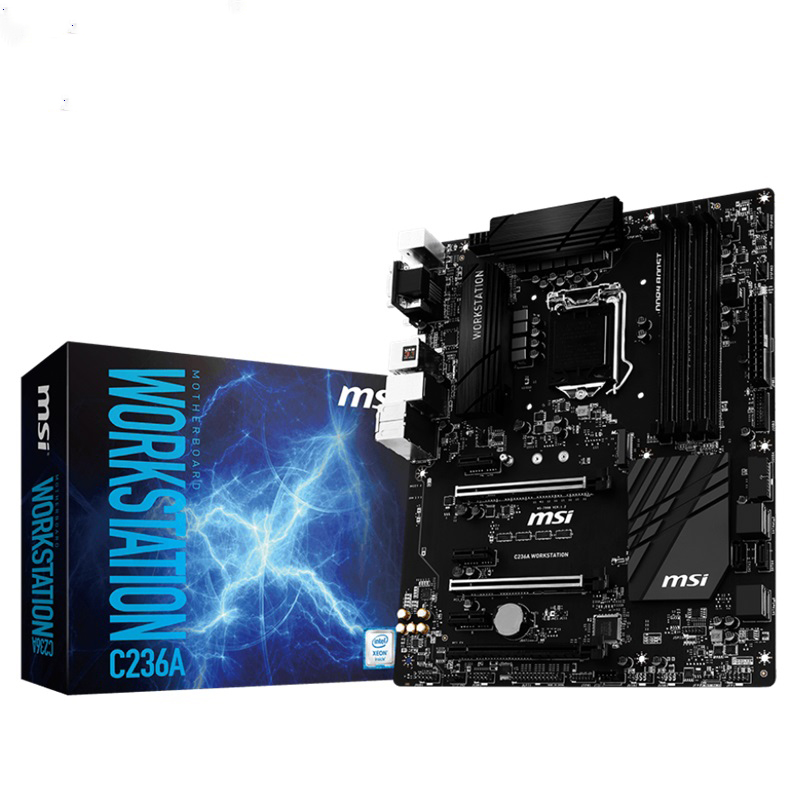 MSI C236A WORKSTATION X150 oyun tahtası C236 workstation LGA1151