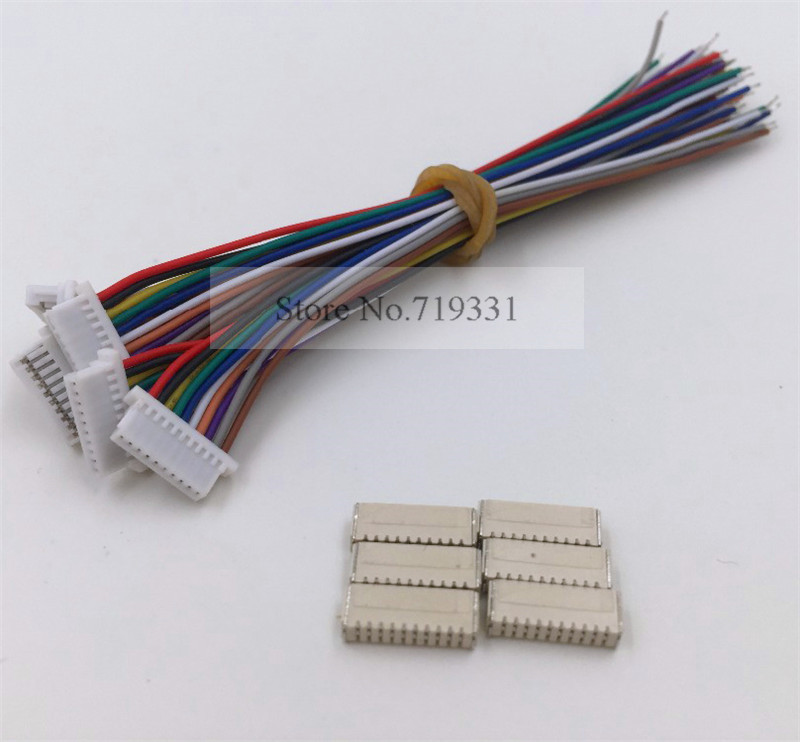 Mini. Tel ile mikro JST 1.0mm 8-Pin Konektörü x10sets